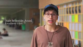 UdeA - Juan Sabastián saluda al profe Vicente. Día del Maestro 2018