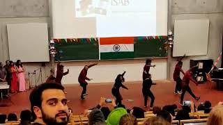 Diwali in Bremen, Germany. Indian Students Association Bremen, Dance group.