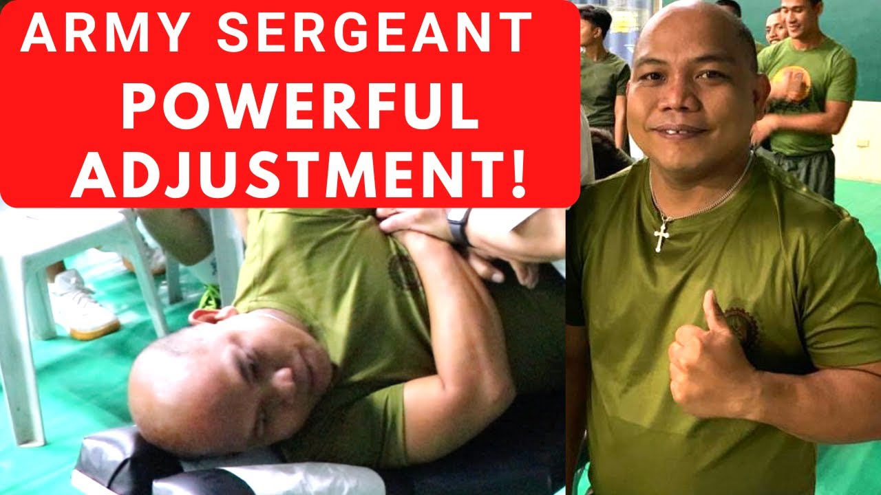 Global City Chiropractor Provided Charitable Chiropractic Care at Philippine Army Gym