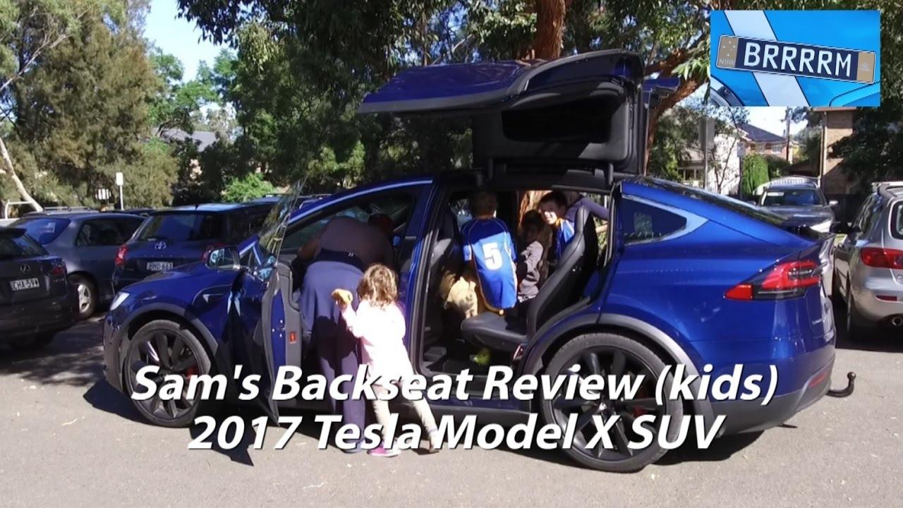 Sam S Backseat Kids Review Tesla Model X Suv Youtube