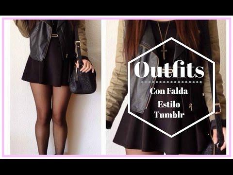 9d00266e53 Outfits con Falda NEGRA