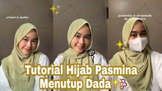 [Viral Tiktok] Tutorial Hijab Pasmina Menutup Dada✨🌈