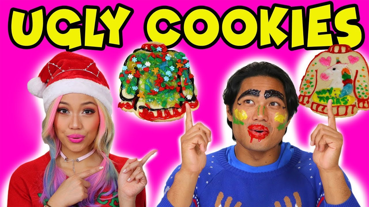wengie-and-guava-juice-diy-ugly-christmas-sweater-cookies-totally-tv
