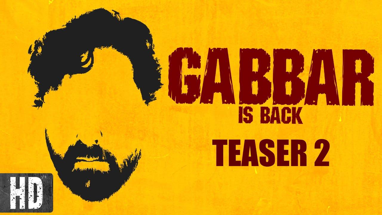 gabbar is back trailer download