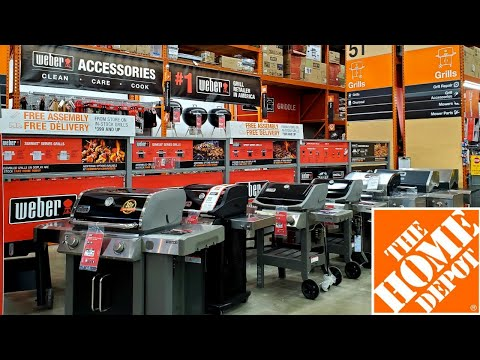 GRILLS AND ACCESSORIES AT HOME DEPOT 2020   SHOP WITH ME   WITH PRICES