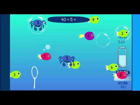 Bubble Fun Practice Math Game - Dividing By 5 - Gameplay