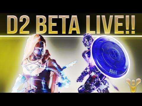 🔴 LIVE! DESTINY 2 Beta Kick Off Stream & Beta Code Giveaways! (8 Codes) #Destiny2
