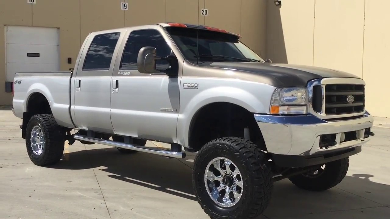 Ford F250 Platinum Lifted >> WWW.DIESEL-DEALS.COM 2001 FORD F250 CREW PLATINUM EDITION LIFTED 7.3 POWERSTROKE TURBO DIESEL ...