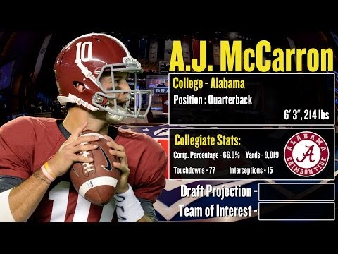 2014 NFL Draft Profile: A.J. McCarron - Strengths and Weaknesses + Projection!