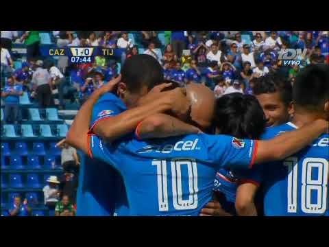 Goles de 'Chaco' Giménez con Cruz Azul