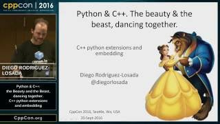 "CppCon 2016: ""Introduction to C++ python extensions and embedding Python in C++ Apps"