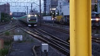 E233系3000番台上野東京ライン高崎線直通普通前橋行前5両籠原行藤沢駅遅めの入線