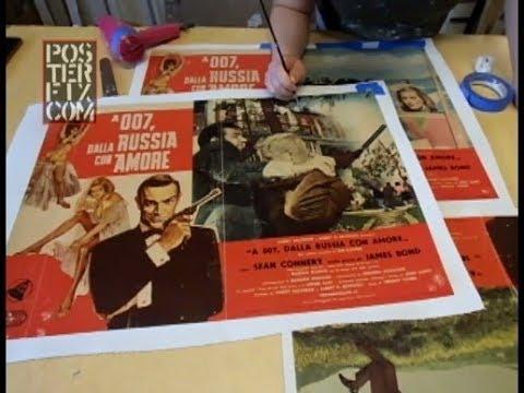 James Bond ITALIAN Photobustas Linen Backed