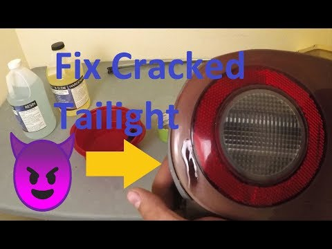 Repair Cracked Taillights With Epoxy