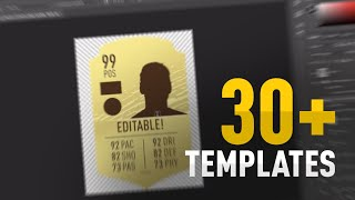 Free Fifa 20 30 Card Templates Psd All Free Card Templates Youtube