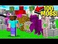 Fighting 100 new minecraft mobs (minecraft addon mod) android