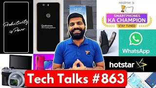 Tech Talks #863 - Realme 3i, INDvNZ, Redmi K20, Hongmeng OS, Whatsapp Forward, Galaxy Note 10, Find