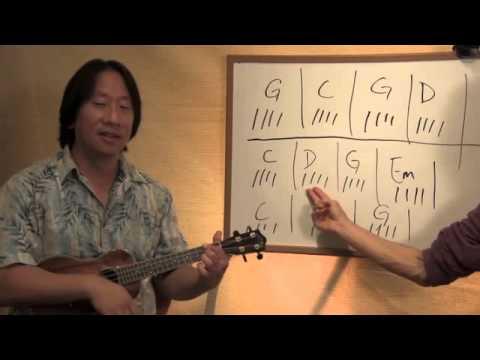 Brown Eyed Girl Part 1 Ukulele Chords Lesson 48 Youtube