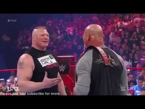 Brock Lesnar Hits Goldberg with an F5!!!!!...