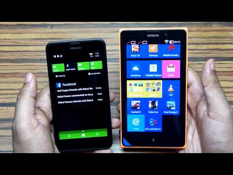 Lumia 630 vs Nokia XL | Windows Phone 8.1 vs Nokia X Platform