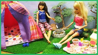 Barbie Doll Camping Tent - Funny Story in the Forest for Kids