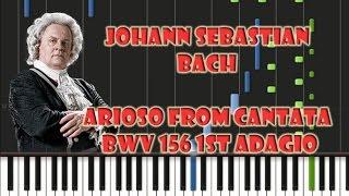 Johann Sebastian Bach - Arioso from Cantata BWV 156 1st Adagio Piano Cover