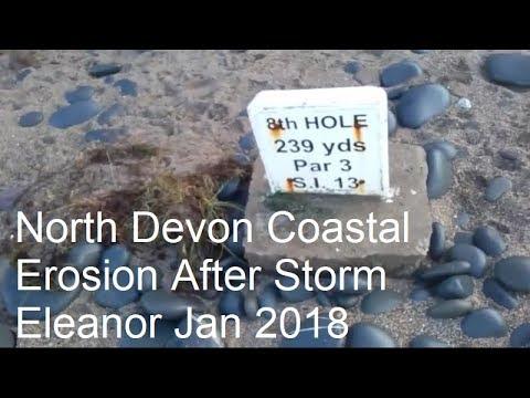 Royal North Devon Golf Club Coastal Erosion After Storm Eleanor January 2018