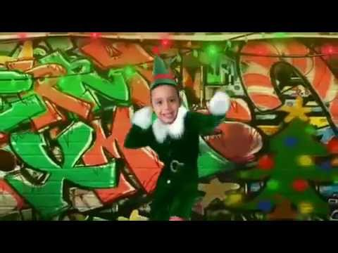 Two year dancing on Christmas song elf your self