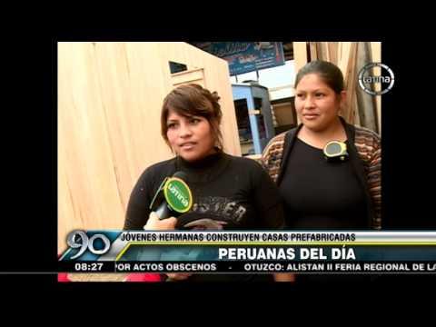 Peruanas Del Dia Jovenes Construyen Casas Prefabricadas Youtube