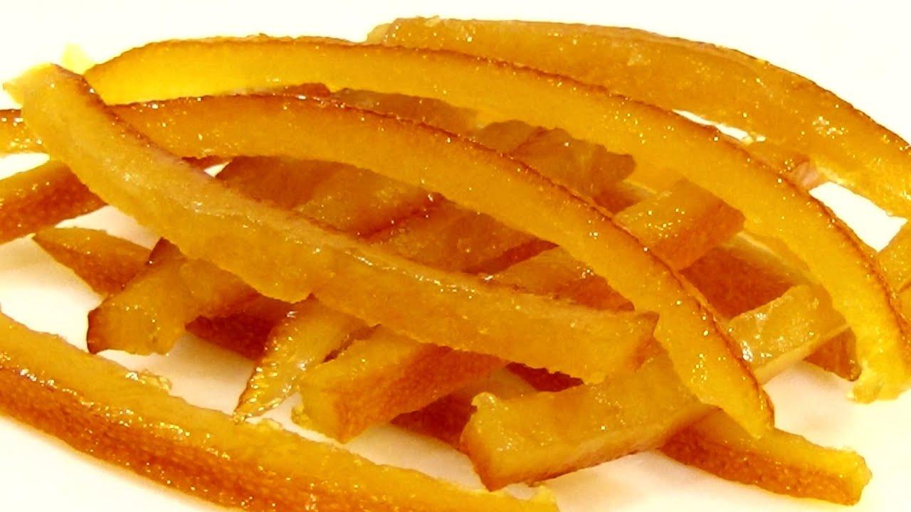 Апельсиновые корочки в сахаре