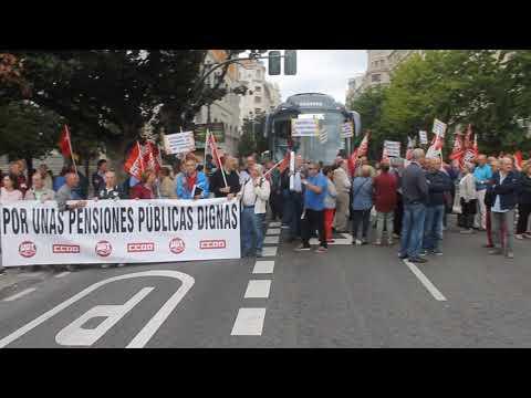 Manifestación de pensionistas 'Por unas pensiones públicas dignas'