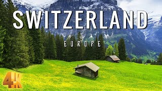 FLY NG OVER SW TZERLAND 4K UHD - Relaxing Music \u0026 Amazing Beautiful Nature Scenery For Stress