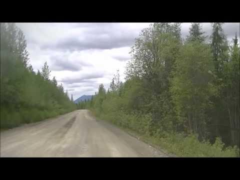 Yukon Territory Drive - Watson Lake Robert Campbell Highway - Mark Erney Satellite Dish