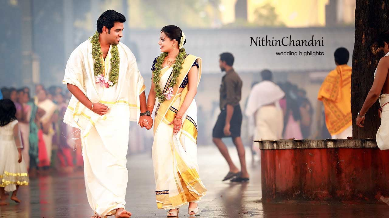 Kerala Hindu Wedding Highlights Nithin Chandni Youtube