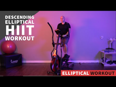 20 Min Descending HIIT Elliptical Workout