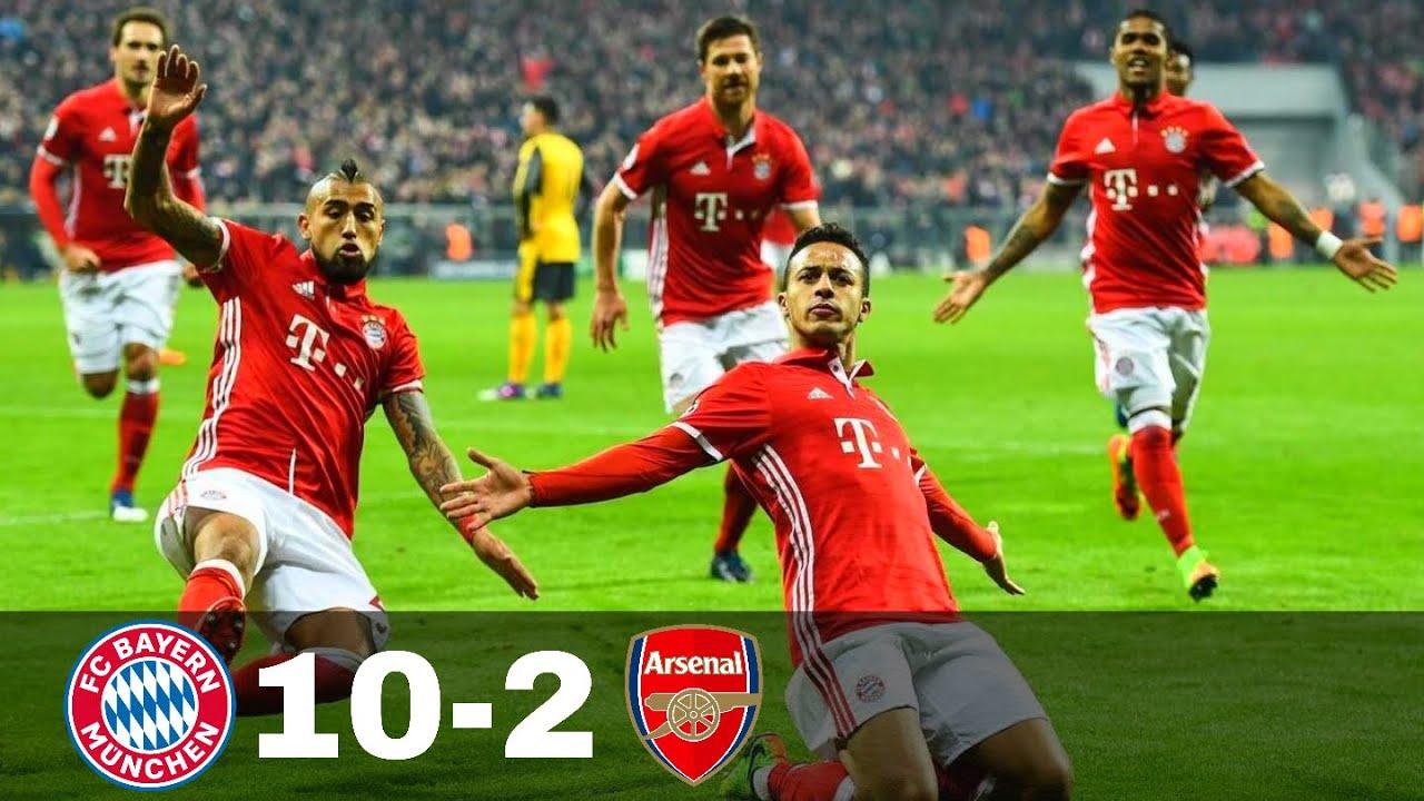 Download Bayern Munich vs Arsenal 10-2 - Goals & Highlights w\ English Commentary 1080p HD