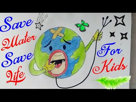 Save Earth Save Environment Drawing Step By Step Save Trees