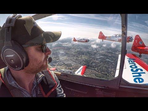 North American T-6 Texan 6 Ship Formation Flight! - The Pilot Maker