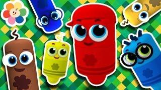 Todos lo Canciones Para Niños | Canciones Infantiles en Español | Pandilla de Colores 3D | BabyFirst