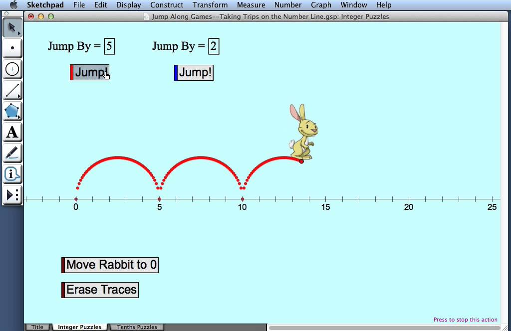 Jump Along Games—Taking Trips on the Number Line - YouTube