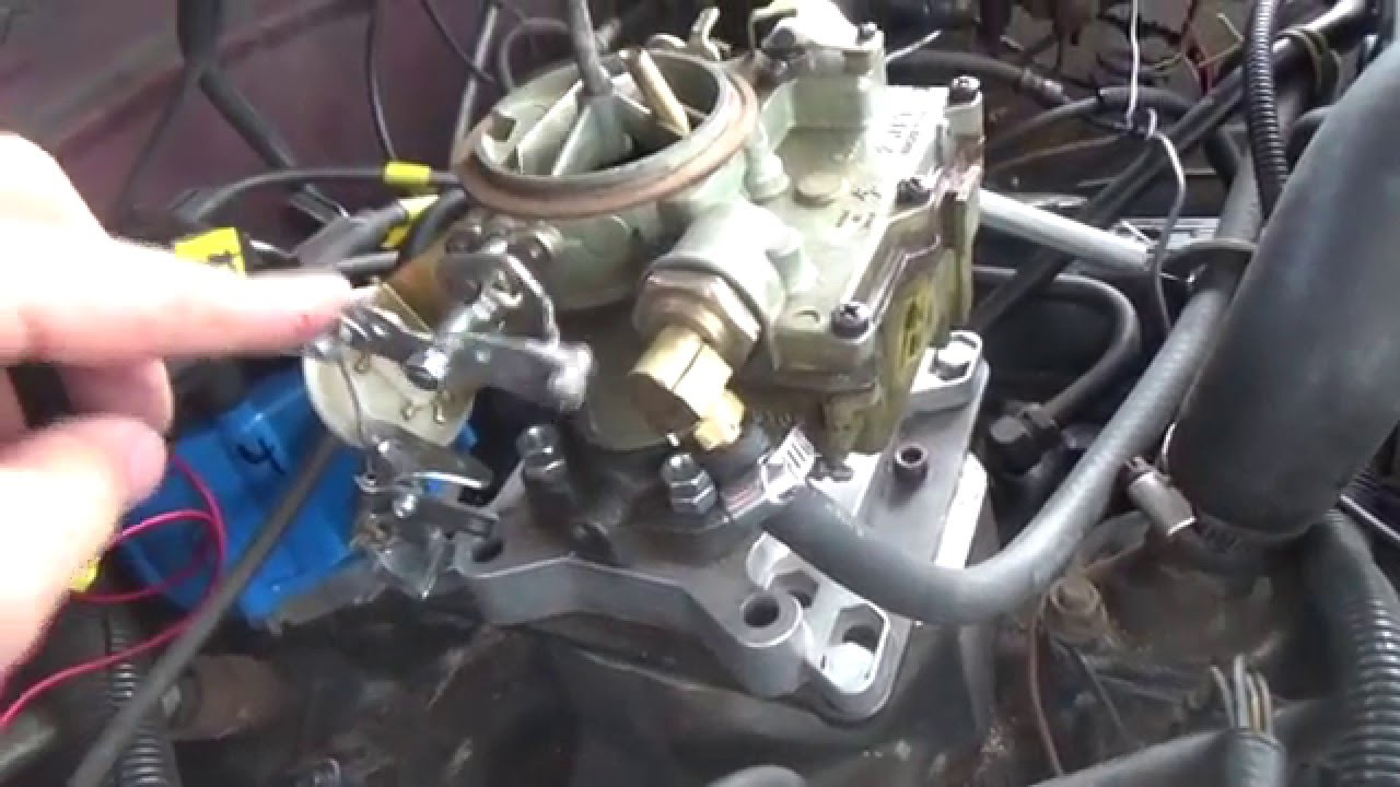 hight resolution of hand choke installation on my chevy truck
