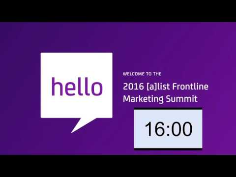 [a]list summit: Frontline Marketing Full Livestream