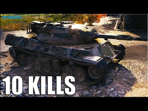 Скилловик на ЛЕОПАРДЕ 10 фрагов ✅ World of Tanks Leopard 1 лучший бой thumbnail