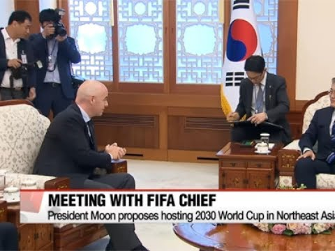 President Moon proposes hosting 2030 World Cup in Northeast Asia