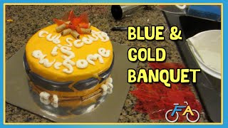 BLUE & GOLD BANQUET CAKE