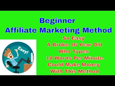 Beginner Affiliate Marketing Method | So Easy A Broke 16yo Who Types 16WPM Could Make Money W/ This