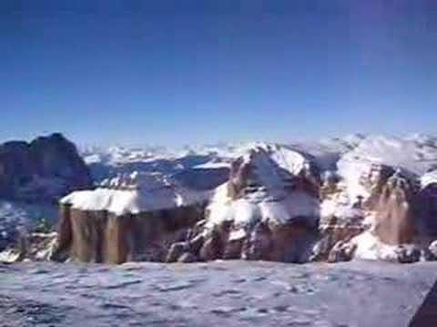 Sass Pordoi veduta panoramica dalla Terrazza delle Dolomiti!