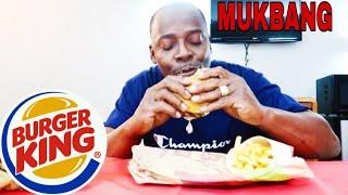 BURGER KING MUKBANG/ HOW I GOT SHOT...😥