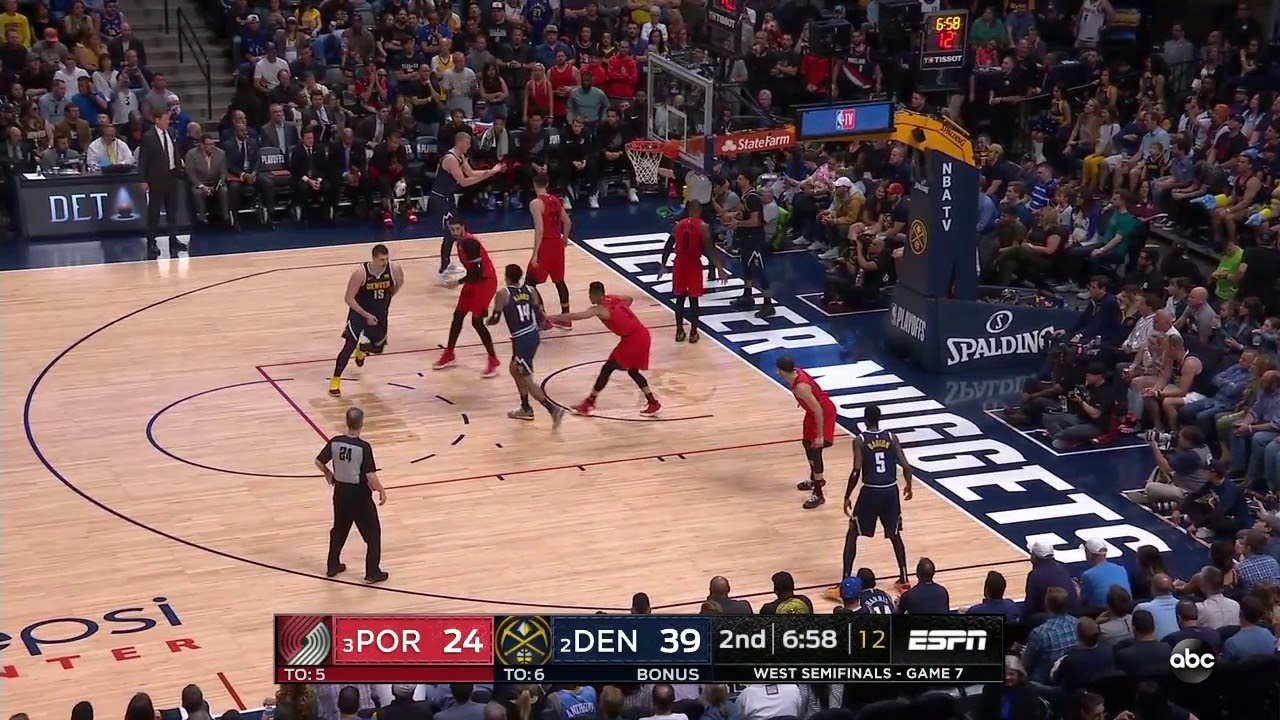 Enes Kanter All Game Actions 05/12/19 Portland Trail Blazers vs Denver  Nuggets Game 7 Highlights - YouTube