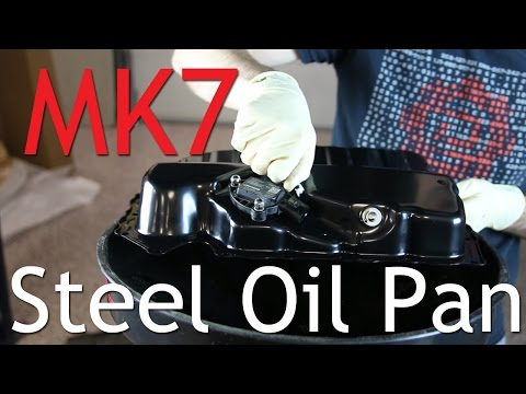 MK7 GTI Steel Oil Pan DIY Install (No More Plastic)